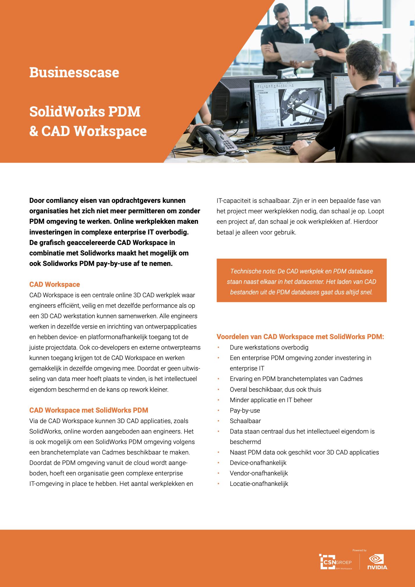 CAD Workspace & Solidworks PDM